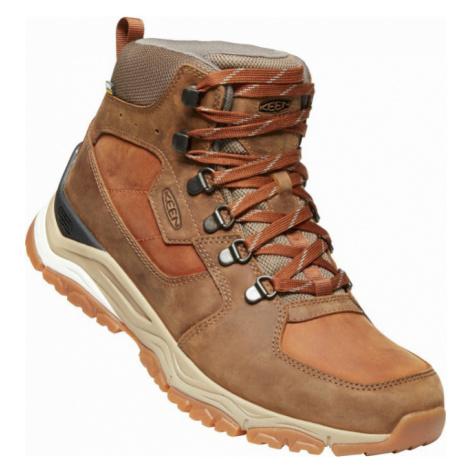 KEEN INNATE LEATHER MID WP M Pánská nízká treková obuv 10008865KEN01 musk