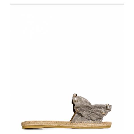 Pantofle SERGIO ROSSI x MANEBI stříbrná