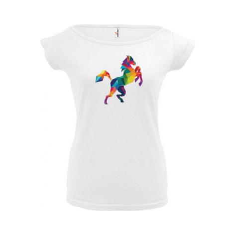 Dámské tričko Elegance Kůň z polygonů