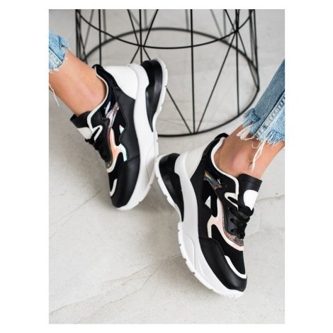 SWEET SHOES STYLISH BLACK SNEAKERS