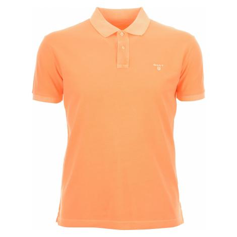 Pánské oranžové polo Gant s vyběleným efektem