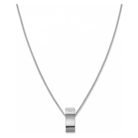 Rosefield náhrdelník Lois Folded Charm Necklace Silver