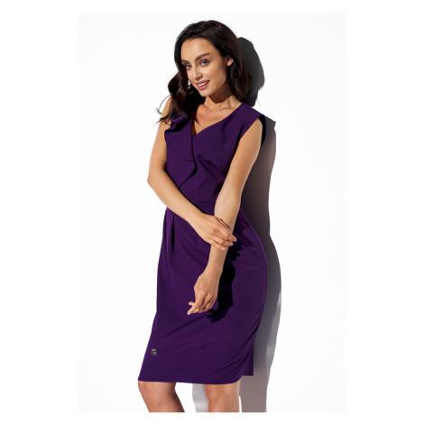 Fialové pouzdrové šaty L337