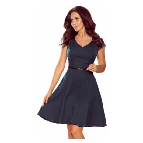 Dámské šaty Numoco 254-1   mentolovo-černá