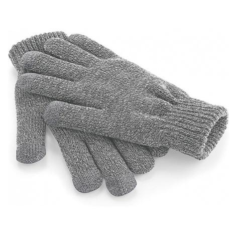 Zimní rukavice s dotykem na mobil - světle šedé Beechfield
