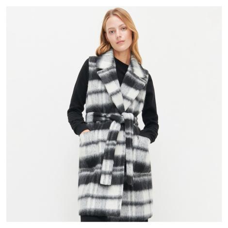 Reserved - Kostkovaná vesta s příměsí vlny - Vícebarevná