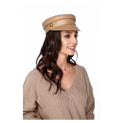 Stylová dámská kšiltovka kožená čepice s kšiltem Lemoniade