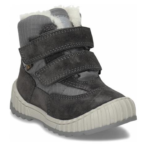 Šedá chlapecká zimní obuv s kožíškem Froddo