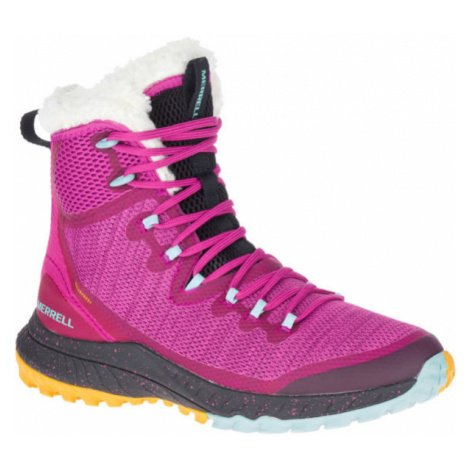 Merrell BRAVADA KNIT PLR WP růžová - Dámské zimní boty