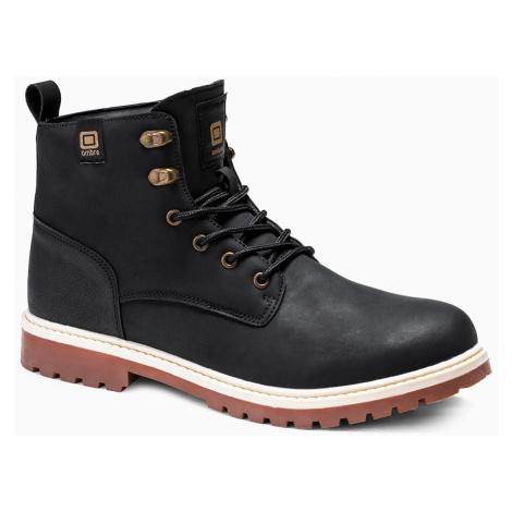 Pánské zimní boty Hill černé Ombre Clothing