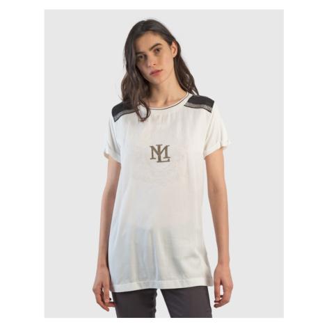 Tričko La Martina Woman T-Shirt S/S Tencel - Bílá
