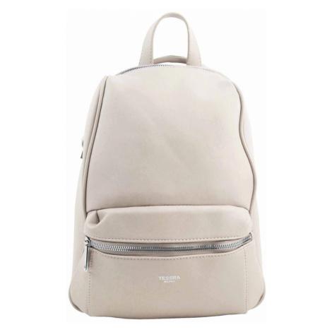 TESSRA MILANO Elegantní krémový dámský batoh / kabelka 4944-TS
