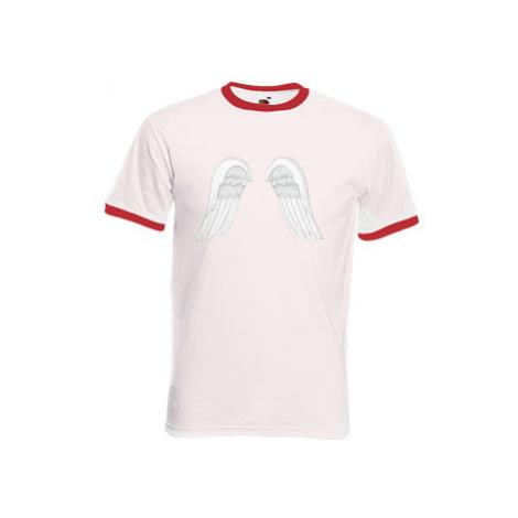 Pánské tričko s kontrastními lemy Andělská křídla