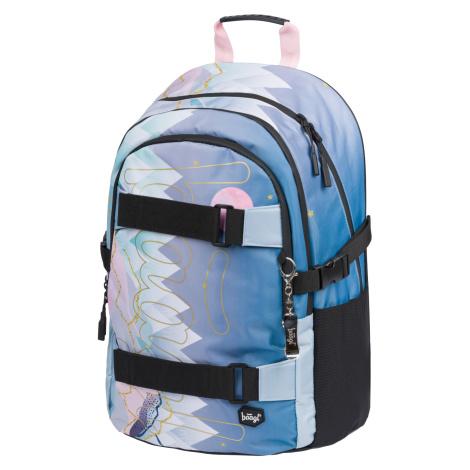 BAAGL Školní batoh Skate MOON