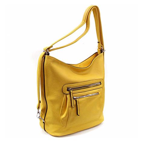 Žlutá dámská crossbody kabelka a batoh Ascelina Mahel