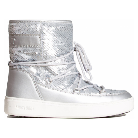 Boty Moon Boot PULSE MID DISCO PLUS stříbrná
