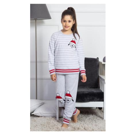 Dětské pyžamo dlouhé Lenka, světle šedá