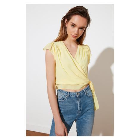 Trendyol Yellow Cruise Collar Blouse