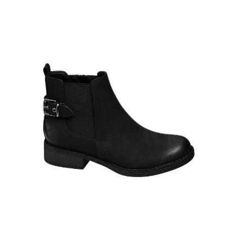 Černá obuv chelsea Graceland