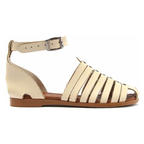 Trendyol Beige Genuine Leather Women Sandals