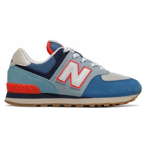 New Balance PC574SOS modrá - Dětská volnočasová obuv