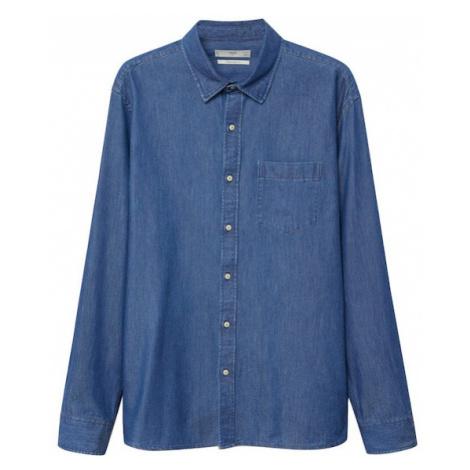 MANGO MAN Košile 'Chambre' tmavě modrá