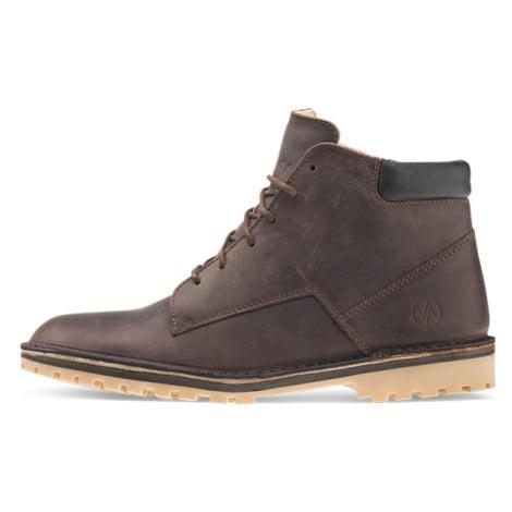 Vasky Hillside Dark Brown - Pánské kožené kotníkové boty tmavě hnědé, česká výroba