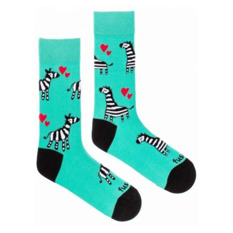 Veselé ponožky Fusakle zebra (--0906)