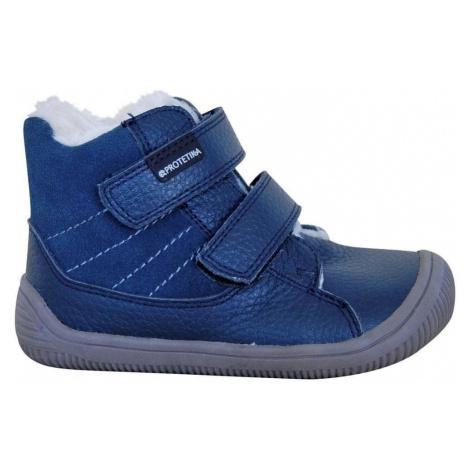obuv dívčí zimní barefoot PROtex membránou KABI DENIM, Protetika, modrá