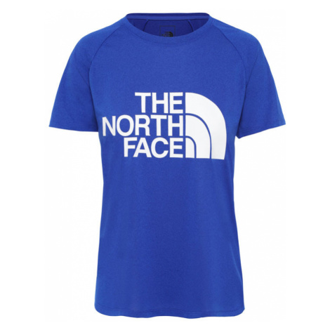 The North Face W Graphic Play Hard slim Fit Tee modré NF0A3YHKDW4