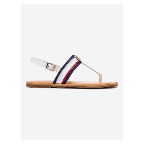 Shimmery Ribbon Flat Sandále Tommy Hilfiger Bílá