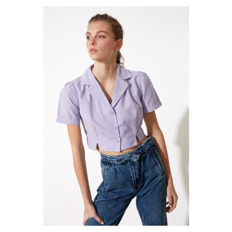 Trendyol Lila Crop Shirt