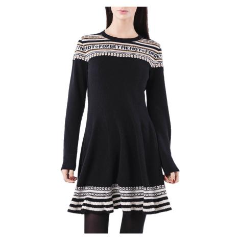 Černé vlněné šaty - RED VALENTINO