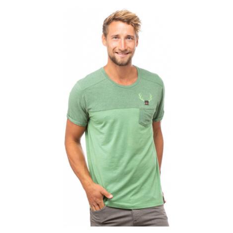 Pánské tričko Chillaz Street Hirschkrah green melange/green