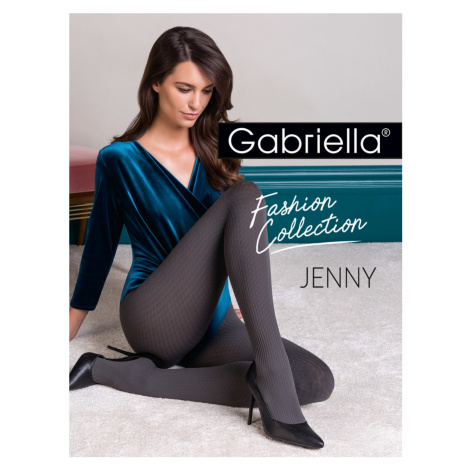 Hrubší punčochové kalhoty - vzor JENNY Gabriella