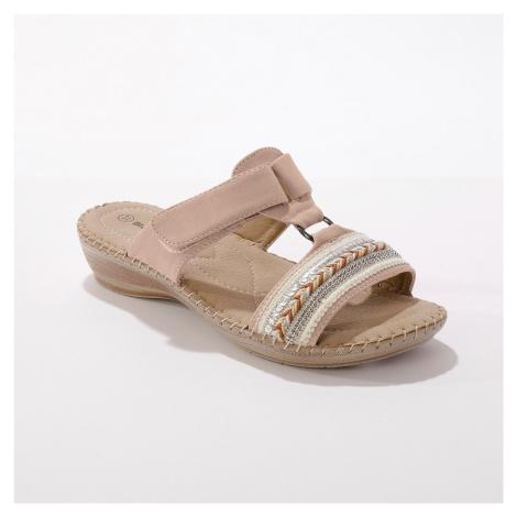 Blancheporte Pohodlné pantofle na klínku, béžové béžová