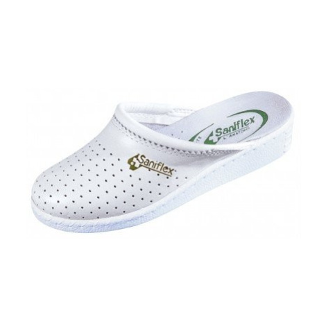 Blancheporte Pohodlné Pantofle, uzavřená špička bílá
