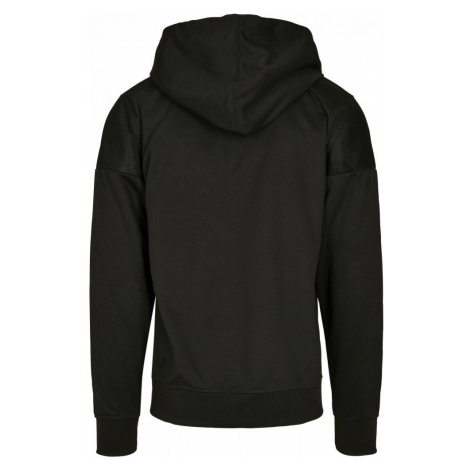 Neoprene Block Tech Fleece Full Zip Hoodie - black Urban Classics