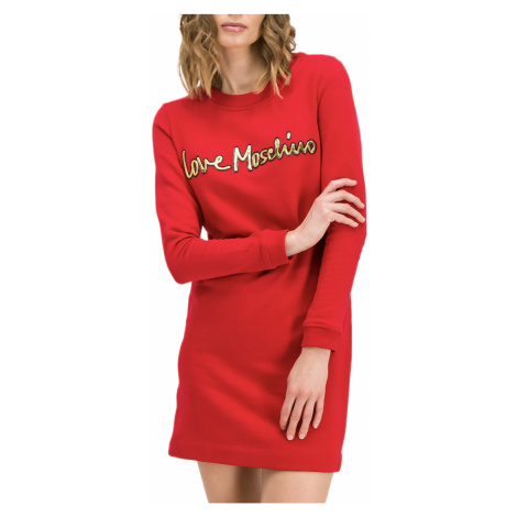 Červené šaty - LOVE MOSCHINO