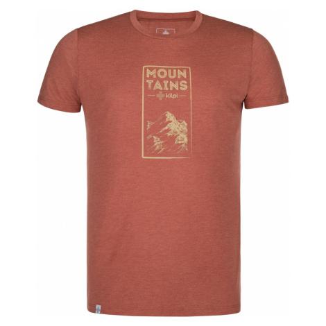 Pánské outdoorové tričko KILPI GAROVE-M tmavě červená