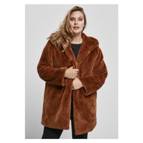 Urban Classics Ladies Hooded Teddy Coat toffee