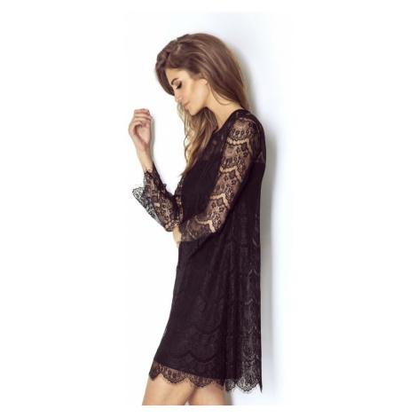 Dámské romantické krajkové šaty v černé barvě ROMANICA IVON