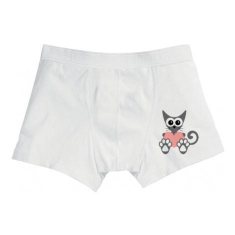 Pánské boxerky Kočka a srdce