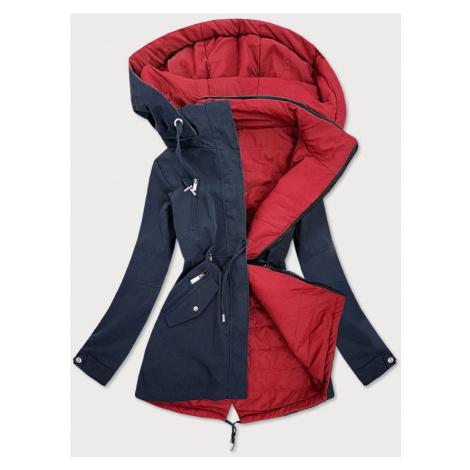 Tmavě modro - červená oboustranná dámská bunda (W505) MHM