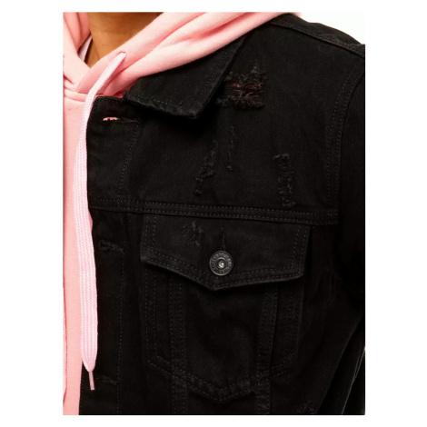 Black men´s denim jacket TX3644 DStreet