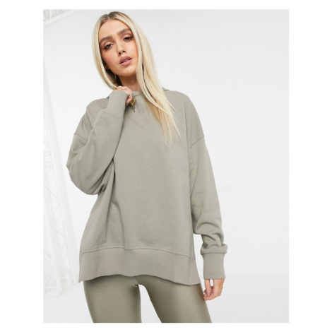 ASOS DESIGN co-ord oversized cocoon hoodie in sage-Green