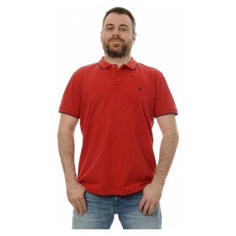 Polo triko Wrangler SS Polo Tee pánské tmavě červené