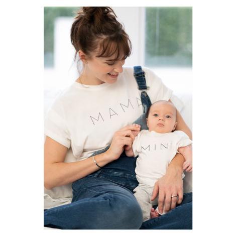Smetanový set triček pro maminku a miminko Alba Mama & Mini