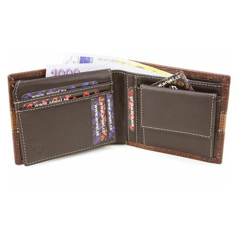 Hnědá pánská kožená luxusní peněženka Abelard Arwel