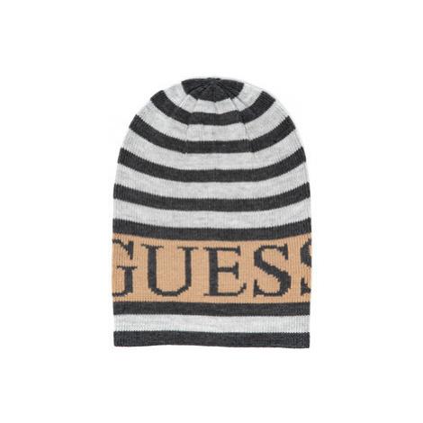 Guess GUESS dámská šedá pruhovaná čepice